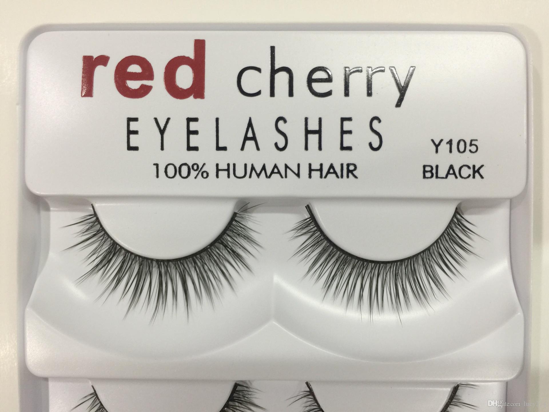 2018 레드 체리 가짜 속눈썹 5 개 / 팩 8 개 스타일 Natural Long Professional 메이크업 Big eyes 고품질 Free DHL