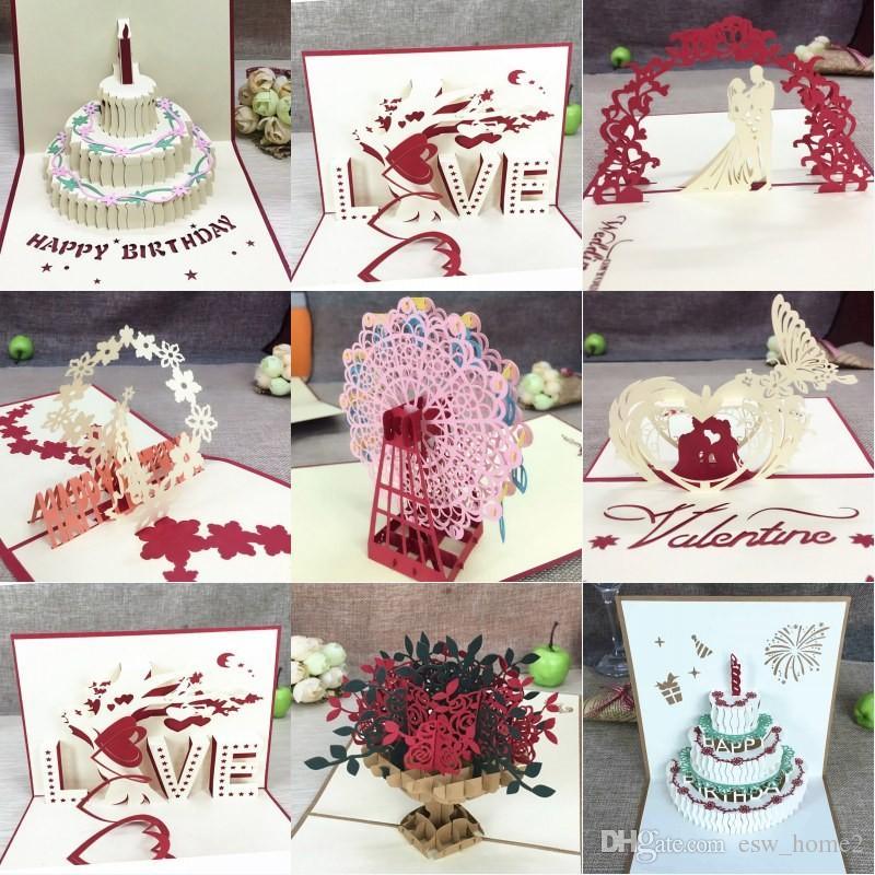Acquista 3D Pop Up Biglietti D auguri Con Busta Laser Cut Post Card Il  Compleanno Di Natale San Valentino Festa Decorazione Di Nozze A  1.61 Dal  Esw home2 ... 8b025259082c