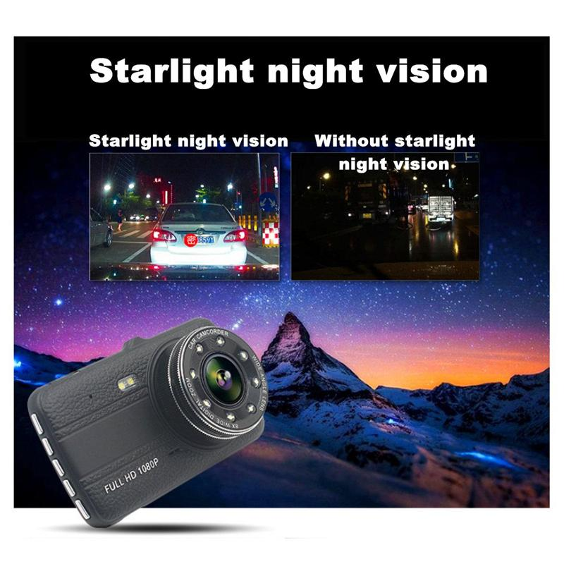 1080P 2Ch car DVR full HD 4 inch vehicle traveling data recorder 170° wide view angle super night vision car dashboard camera