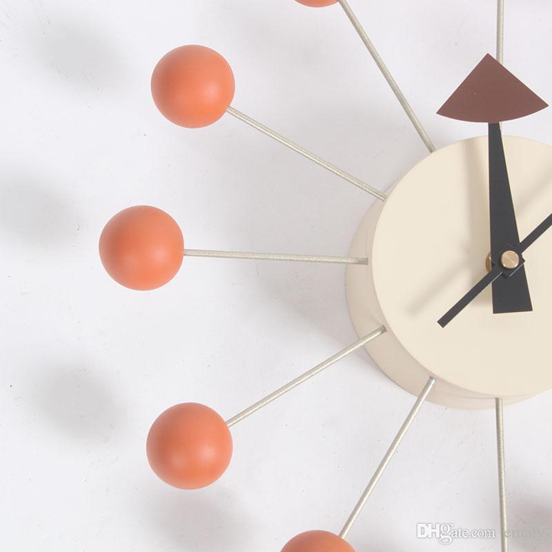 9c365a2c6e5 Compre Relógio De Parede De Quartzo De Madeira 14 Polegadas Relógio De  Parede De Emaly