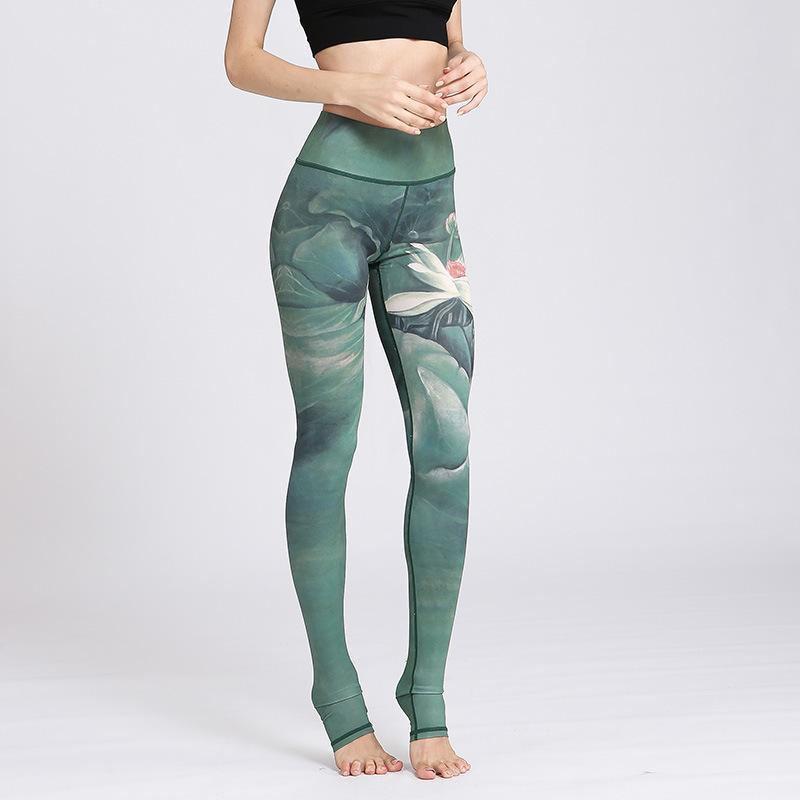 20c439dd2d Yoga Pants Woman Printing Bodybuilding Trousers Leggins Sport Pants ...