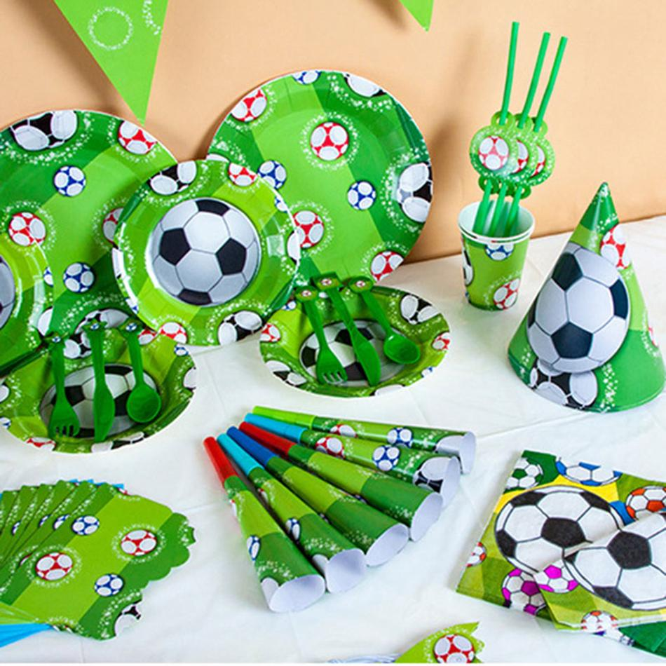 282470b738f8 Kids World Cup Sports Football Theme Birthday Party Supplies Tableware Set  Napkin Cups Tablecloth Flag Kids Christmas Toy OOA4912 Great Christmas  Gifts ...
