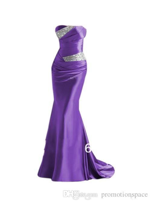 2020 billiga sjöjungfrun satin brudtärna klänningar Burgundy silver grå lila blå piga av ära klänningar kvällsklänningar prom klänningar