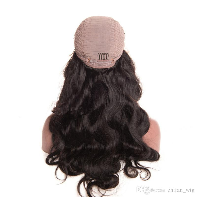 Zhifan full lace ombre silk top 14-26inch full lace wigs long bob wigs for white women real human hair virgin remy
