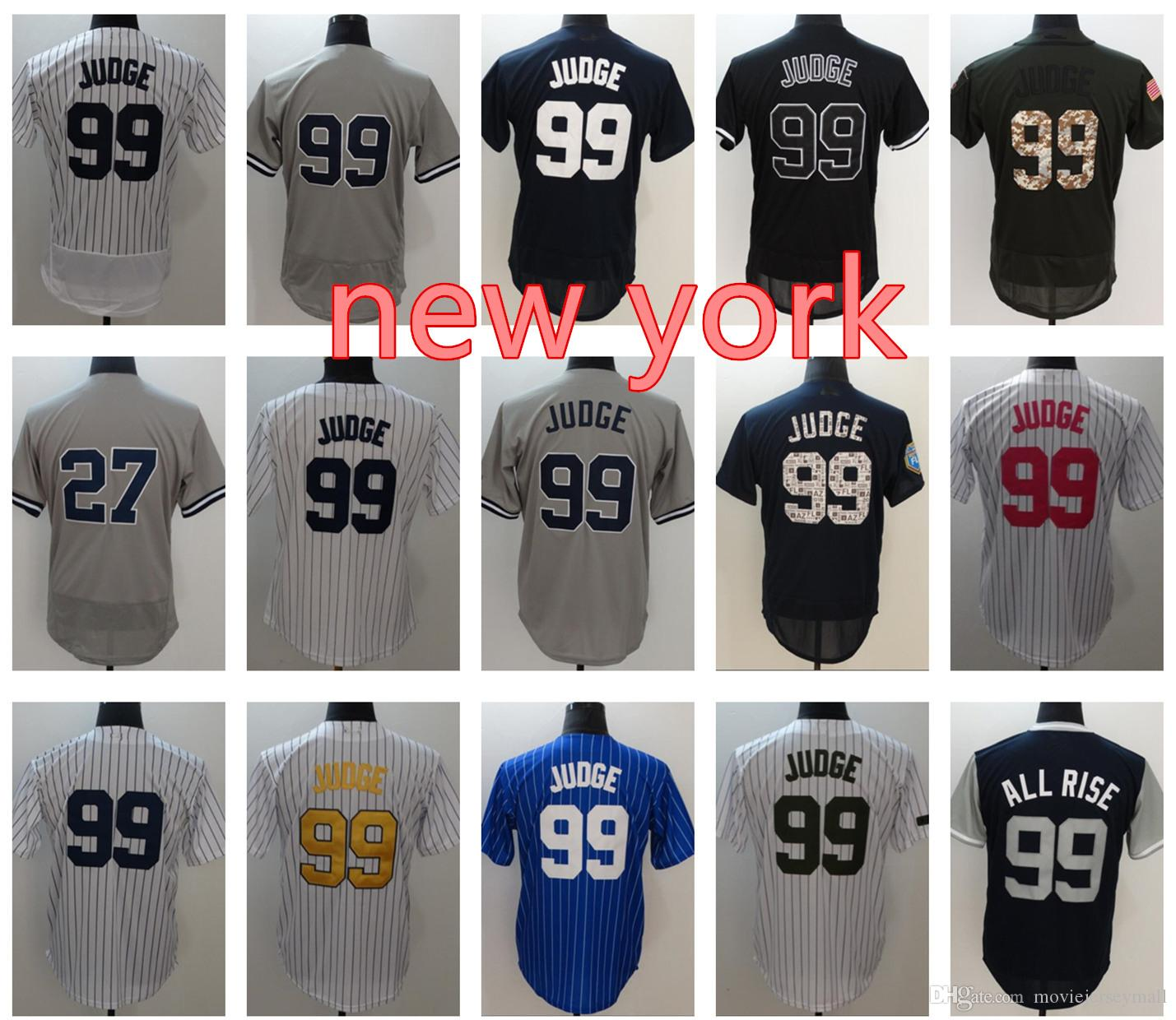 New York Aaron Judge Baseball Jerseys Weekend Nick Name Mens 2018 Spring  Training Jersey Retro 99 Aaron Judge Gold Program Baseball Jersey Aaron  Judge ... 8585bd70bf6