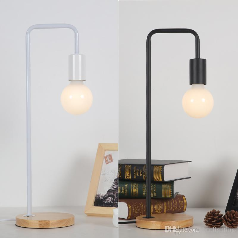 Modern Led Desk Lamp Study Office Iron Art Desk Lights Bedroom Lamp