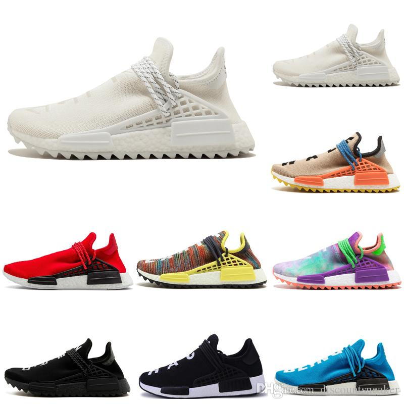 ede2e73f894e Hot Sale Human Race Holi Pale Nude Cream Men Running Shoes Pharrell Yellow  Black White Red Blue Mens Women Sports Shoes Sneakers Size 36 47 Running  Trainers ...