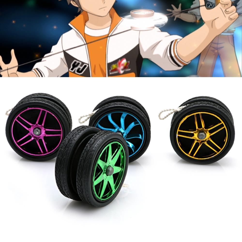 NEW Brand HOT Professional Electroplating YoYo Ball Bearing String Trick Children Kids Toy