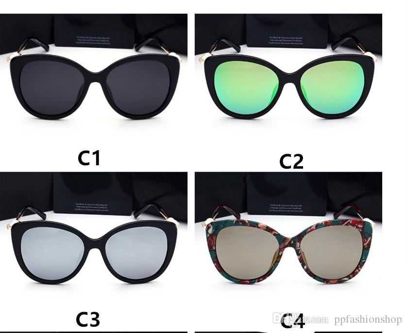 Fashion pearl Designer Sunglasses High Quality Brand Polarized lens Sun glasses Eyewear For Women eyeglasses metal frame 2039