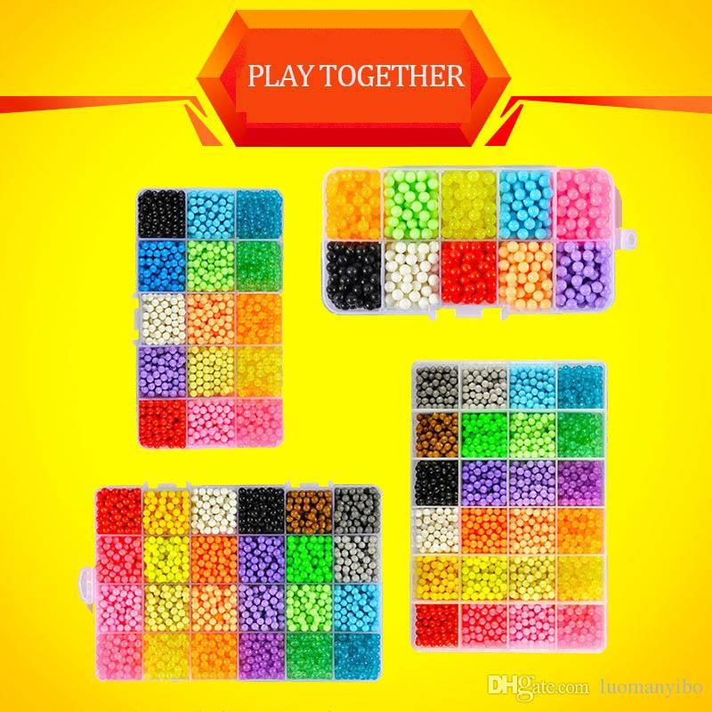 24 Colors Complete Set Magic Aqua Beads Puzzles Kids Toys Birthday Gift  Hama Beads Perler Beads Aquabeads Perlen 3d Puzzle 003