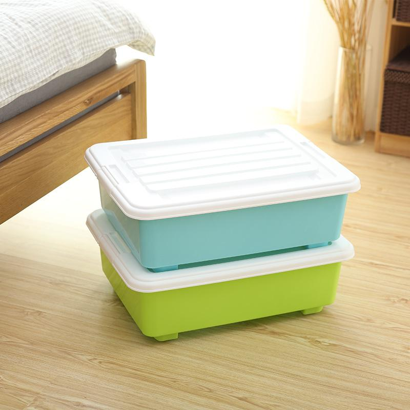 2018 Large Plastic Storage Box With Pulley With Cover 49x38x13cm