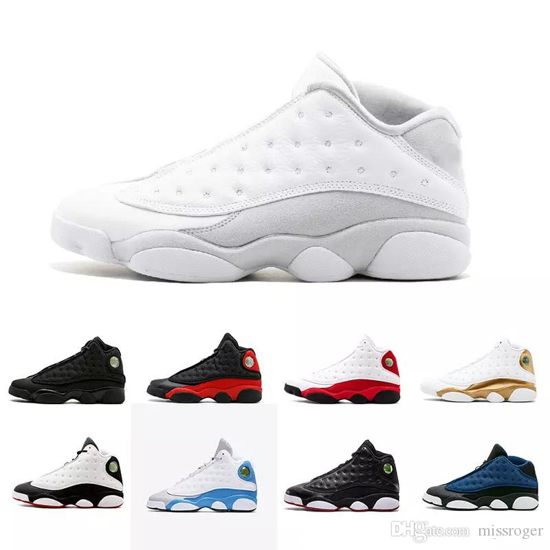big sale ca0f6 a9657 New 13 13s mens Hyper Royal Pure Money Black Cat Playoffs Hyper Navy DMP  basketball shoes 13s sports shoes Sneaker size 41-47