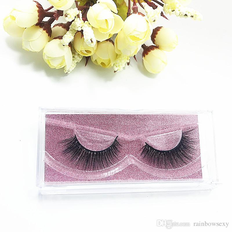 2018 Seashine Mink Cílios 3D Mink Cílios Postiços Cílios Duradouros Naturais Leve Cílios Vison Glitter Embalagem