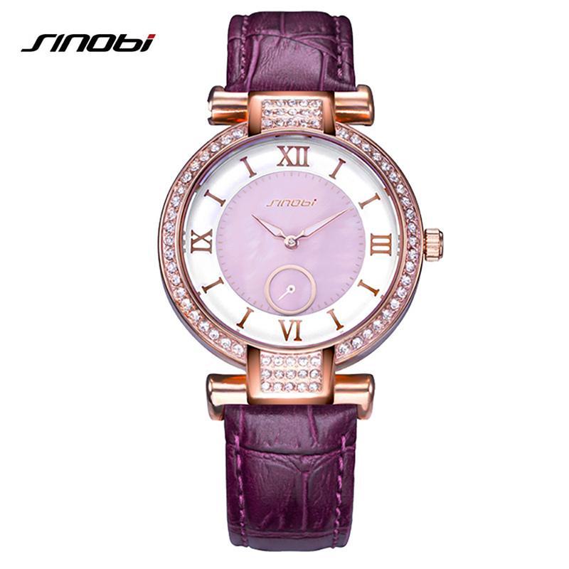 43501a6e6fb Compre SINOBI 2018 Novo Relógio De Diamante Colorido Mulheres ...