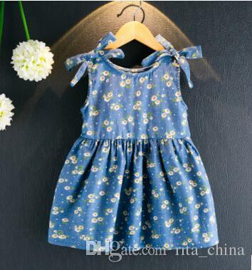 d6c8a3c85 Dress New Kids Girls Summer Short Sleeve Cowboy Pincess Pinting ...