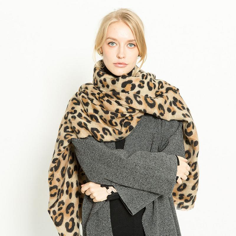 732042d490819 Brand New Autumn Winter Scarf Women Leopard Cashmere Scarves Wraps Basic  Warm Shawls Female Bufandas Blanket Scarf 200*90cm Pet Bandanas Bandana  Napkins ...