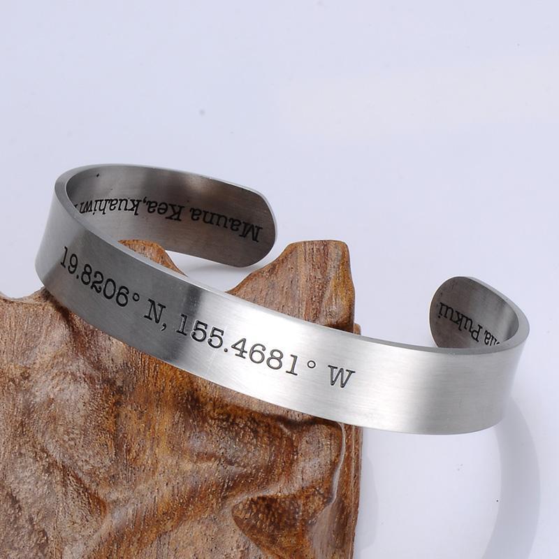 Bracciale bracciale rigido coordinato da donna in acciaio inossidabile 316L con bracciale coordinato da donna