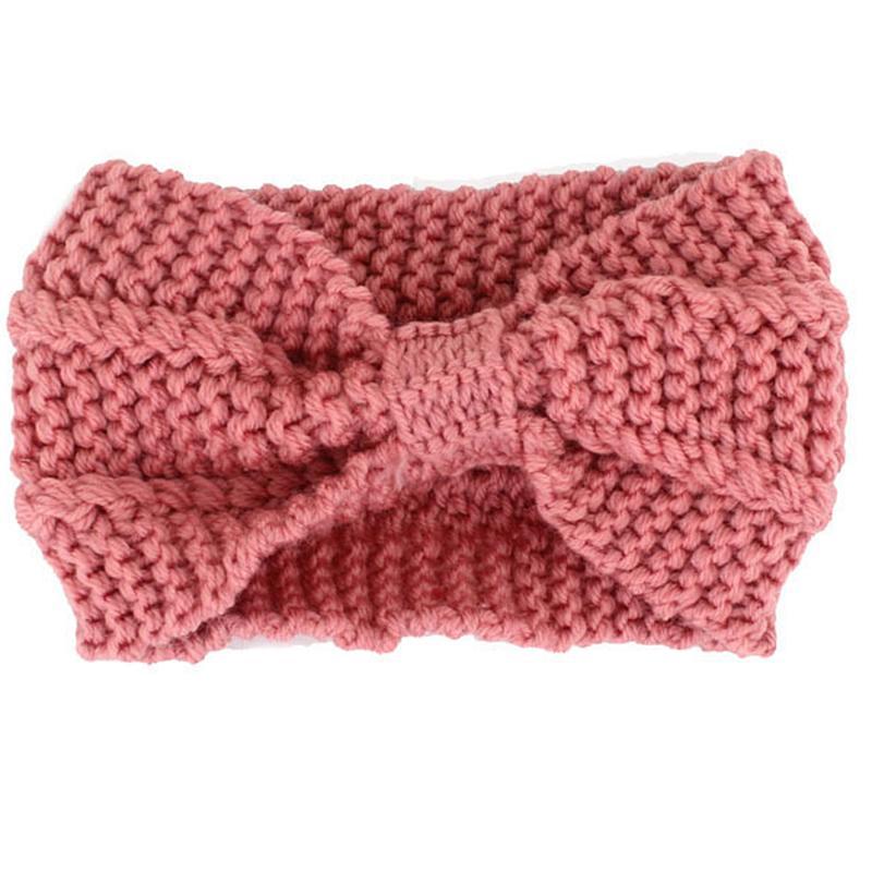 f52aee556f8 Girl Bow Knit Winter Headbands For Women Hair Accessories Elastic Hair  Bands Headdress Headwrap Warm Wool Korean Headband Ladies Hair Band Hair  Accessories ...