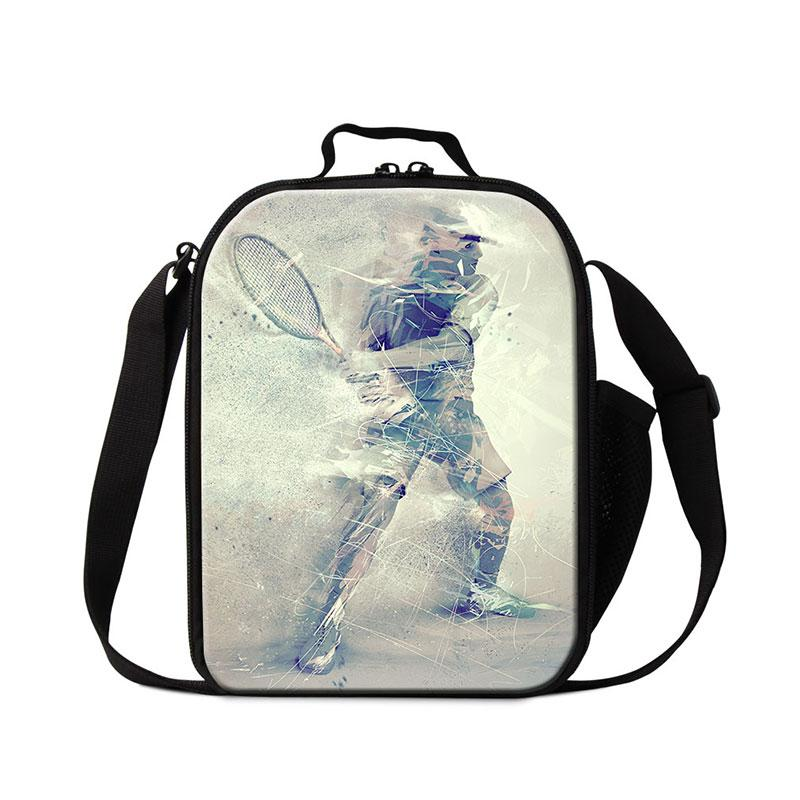 d7c986f6332a Custom Lunch Bags for Teenagers Tennis Patterns on Lunch Pouch for College  Students Boy s Cooler Lunch Handbags for Men Food Cooler Bags