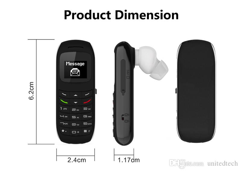 Original GT BM70 Headphone Pocket Cell Phone Wireless Mini Bluetooth Headset Earphone Dialer Stereo Support SIM Card Dial Call