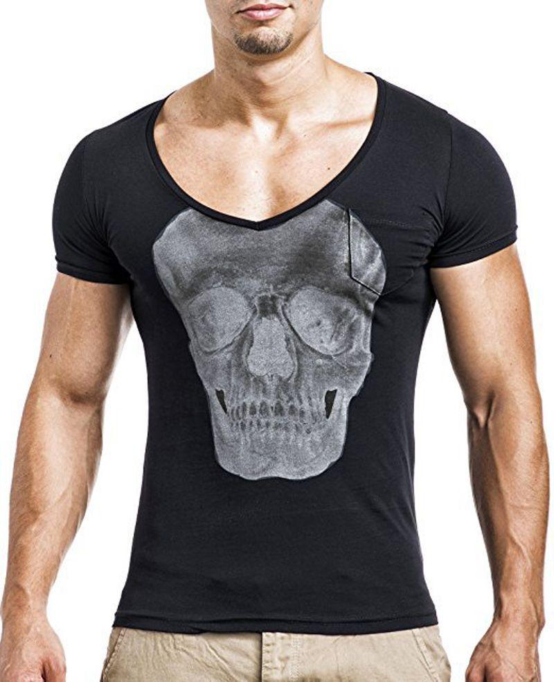 3D Baskılı Moda Erkek T-Shirt Yaz hip-hop erkek Tees Kısa Kollu Yenilik Gömlek Kafatası TShirt yuvarlak boyun T gömlek erkekler Fanila