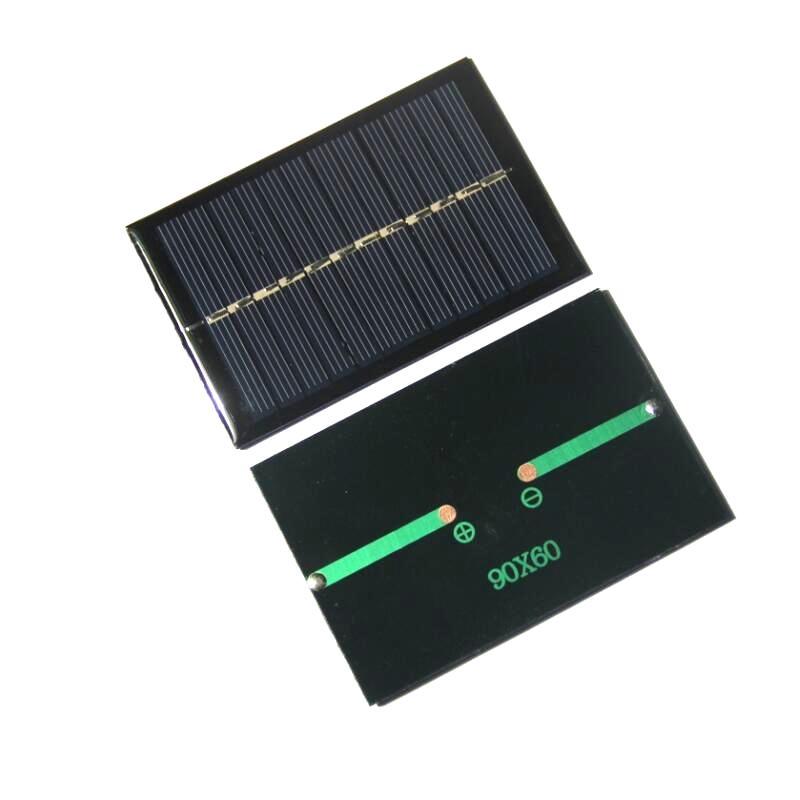 De gros! / 0.6W 6V Mini panneau de cellules solaires en polymère DIYTest Système solaire 90 * 60MM Livraison gratuite