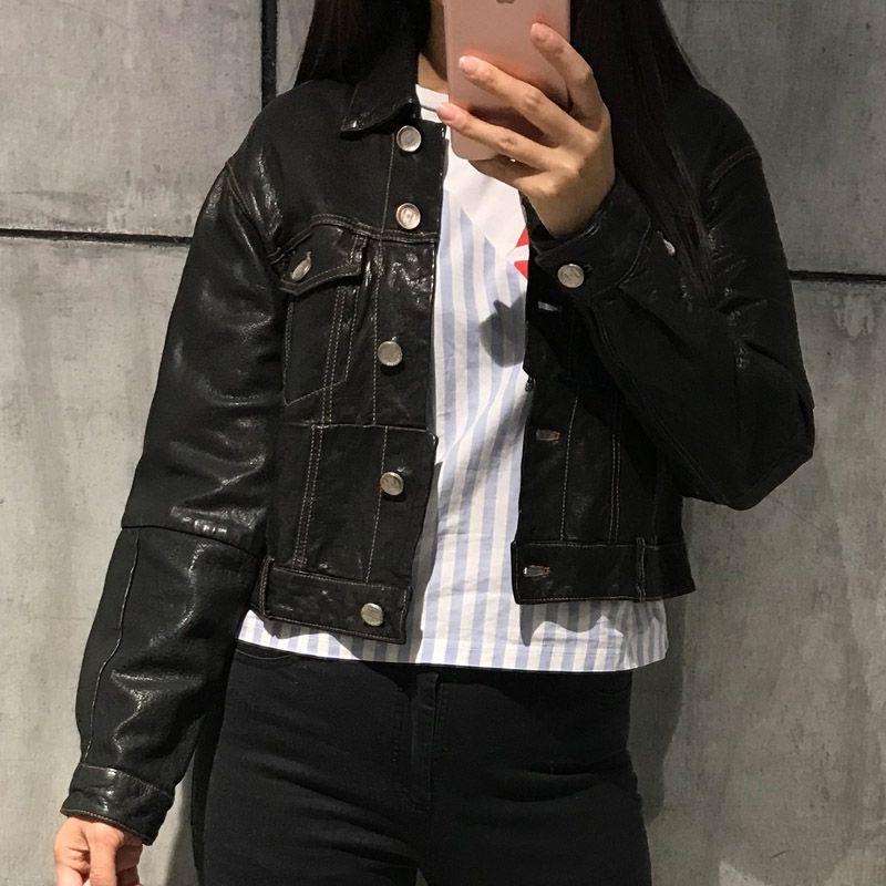 wholesale dealer 5396a d3e81 Damen echte Lederjacke Frauen echte Lederjacke Jeans