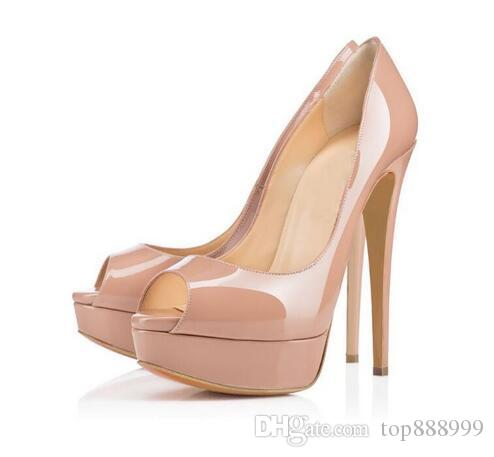Platform High Heel Shoes for Ladies Summer Style Black Stiletto Heel Shoes Round Toes Designer Dress Shoes for