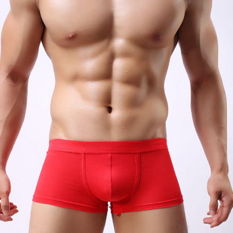 Modal Sexy Men Boxer Shorts Underwear Solid Color U Convex Pouch Comfortable Breathable Underpants Fashion Men Boxer