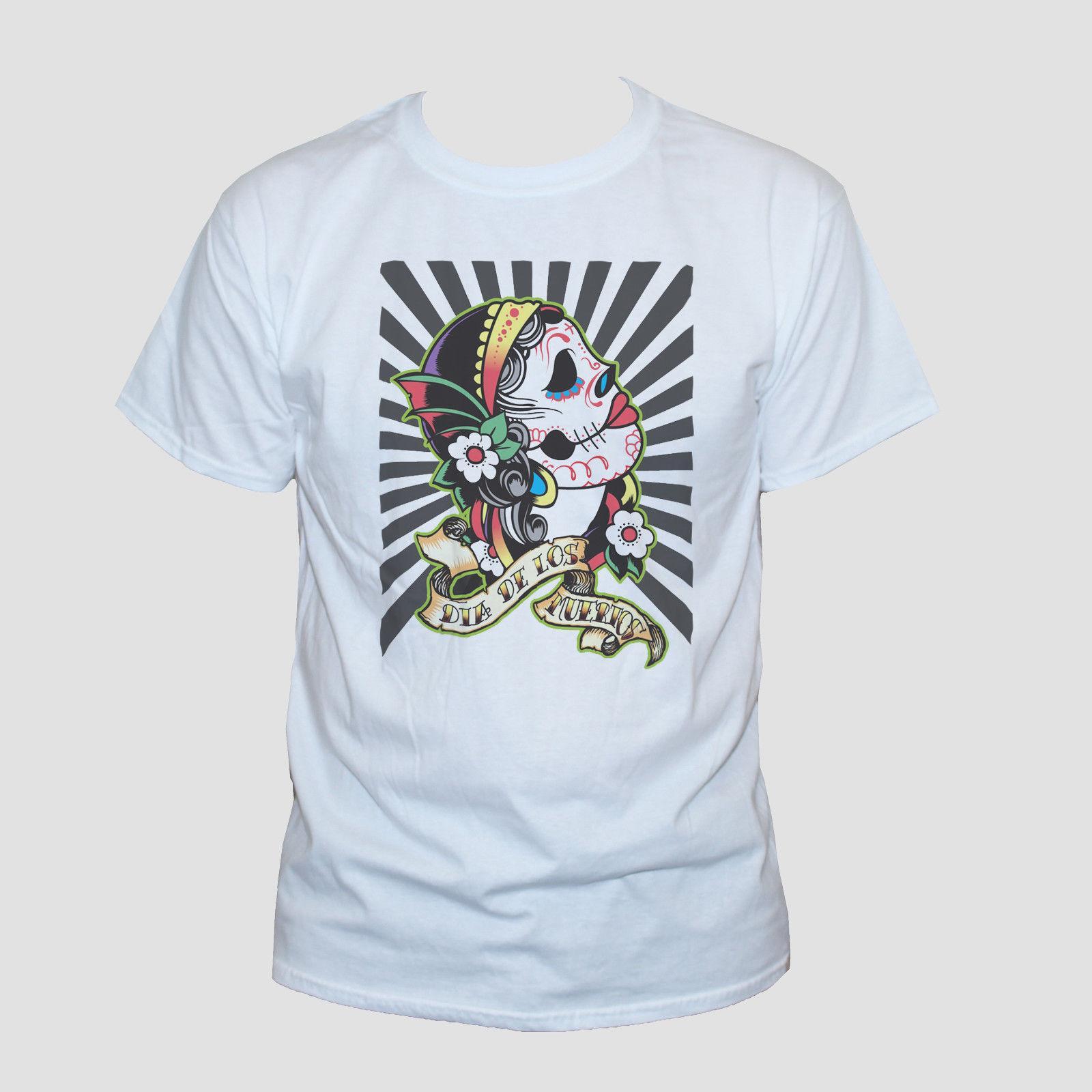 3a6cb0f804f91 Compre Camiseta Con Calavera Mexicana Goth Tattoo Camiseta Estampada Con  Estampado De Rockabilly S M L XL XXL A  11.63 Del Tshirtemperor31