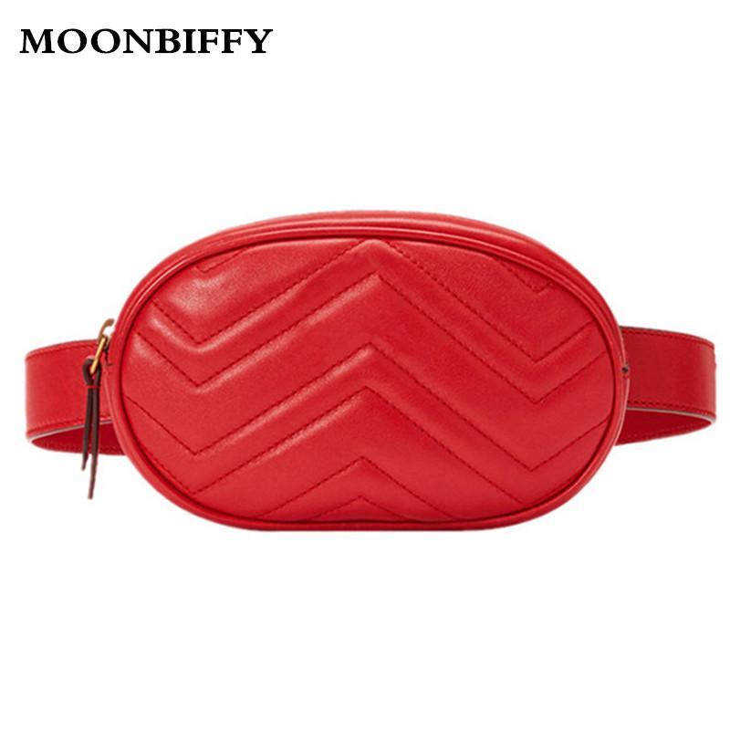 1878cbefe558 Waist Bag Women Waist Fanny Packs Belt Bag Luxury Brand Leather ...
