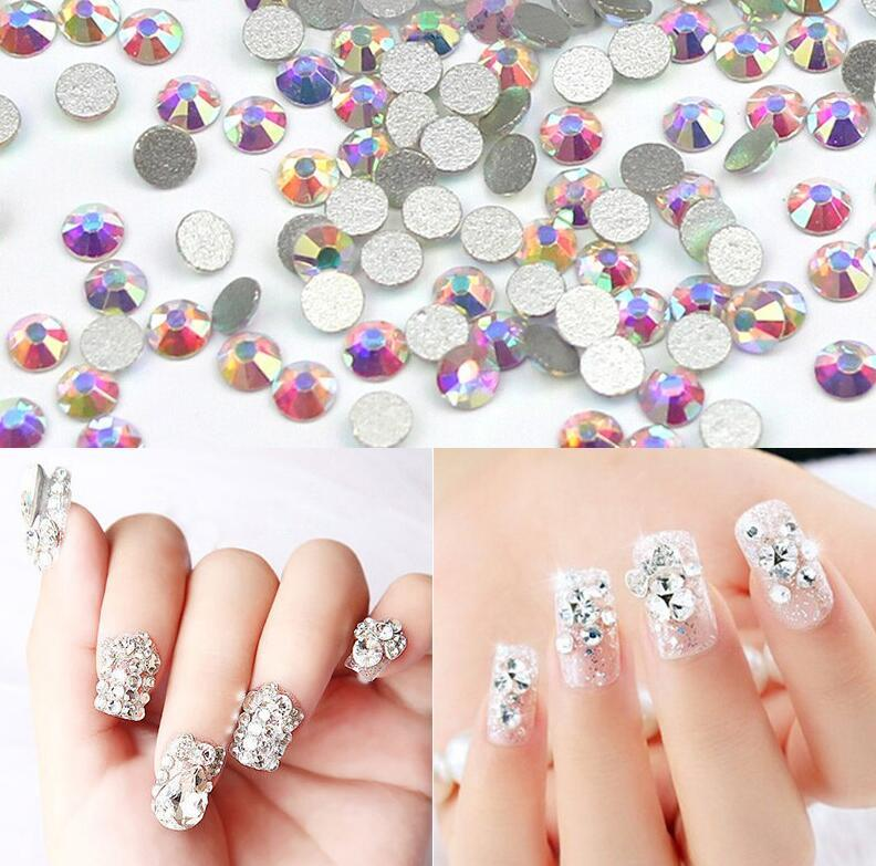 AAAAA SS3  Bag Flat Back Nail Art Sticker Crystal Ab Glue Non Hotfix  Rhinestones For Nails 3D Nail Art Decoration Gem French Manicure Wall  Stickers From ... fd6d7262753e