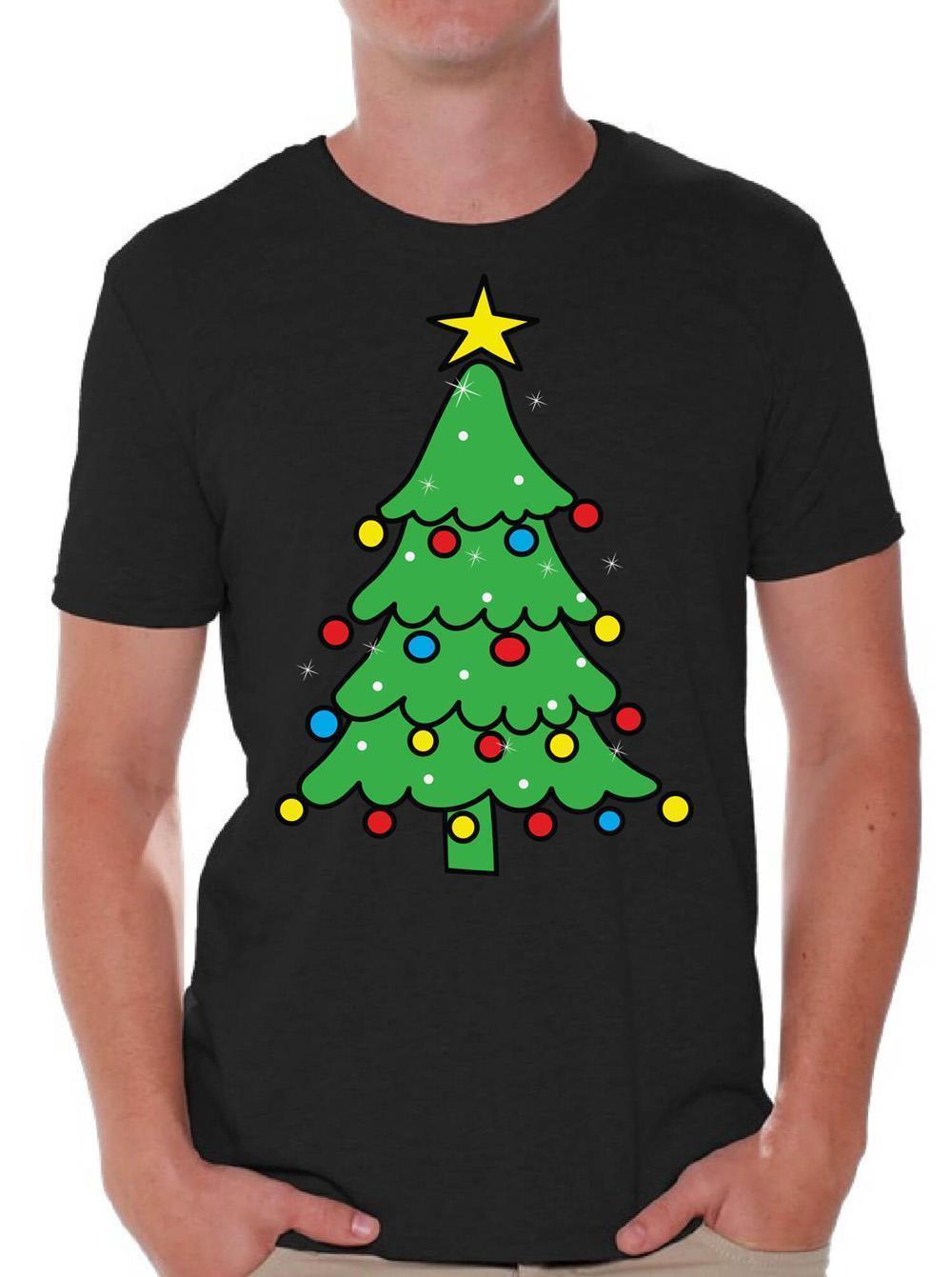 Großhandel Das Weihnachtsbaum Hemd Der Männer Beleuchtete ...