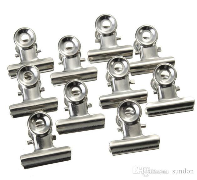 Office tool ! /Box Grip Clips Bulldog Clips Letter Clips Silver Metal paper Clip size 22 mm