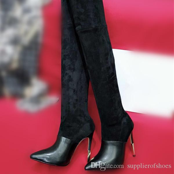 f9164c3ff59 2 0 1 8 Designer Luxury Brand Women Boots Thigh-High Boots Fashion ...