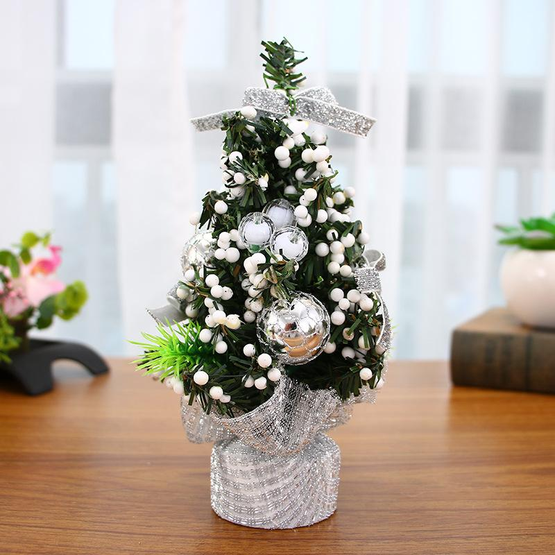 9style Mini Christmas Tree Decoration New Year Christmas Gift Ornament Decor Celebrate Mall Decoration Desktop Ornaments Tree 8b