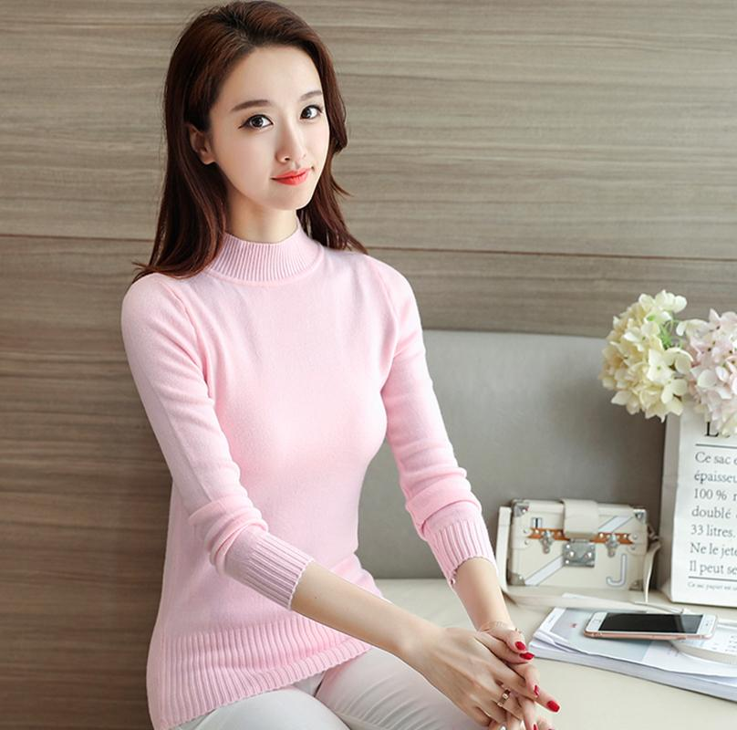2018 Autumn Thick Turtleneck Warm Women Sweater Autumn Winter Knitted Femme  Pull High Elasticity Soft Female Pullovers Sweater Online with  39.85 Piece  on ... 5f181127684a