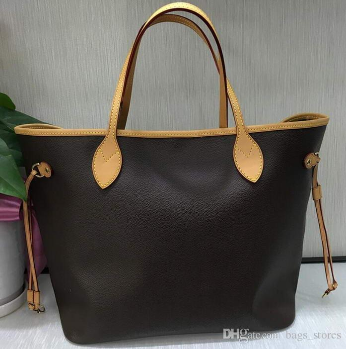 218eb2b37f Fashion Classic Handbags Women Brown White Leather Bags Brand Designer Lady  Clutch Top Shoulder Bag Totes Size L With Wallets For Sale Discount  Designer ...