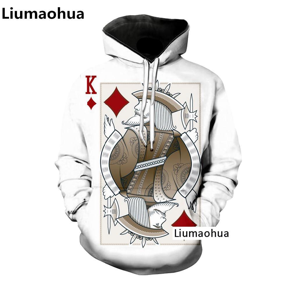 Compre Liumaohua Más Nueva Harajuku Ropa Tamaño Poker Sudadera Con Capucha Hip  Hop Hombres Y Mujeres Poker 3d Imprimir Sudaderas Con Capucha S 5xl Envío  ... 4035954b45f
