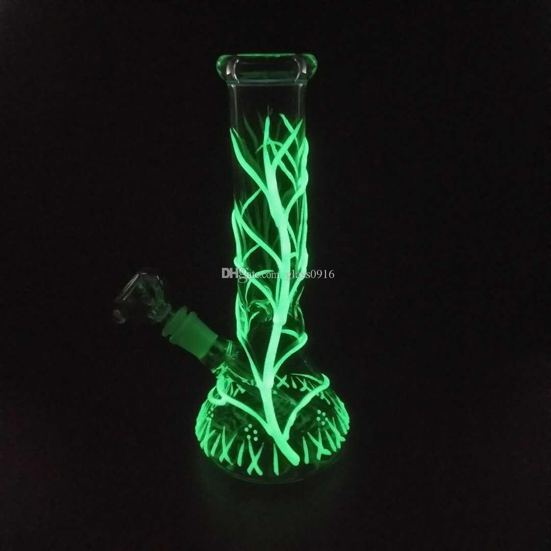 Mini vetro doppio seguire tubo di vetro blow tube ciclone olio rig intermedio luce acqua fumo fluorescenza di spedizione.