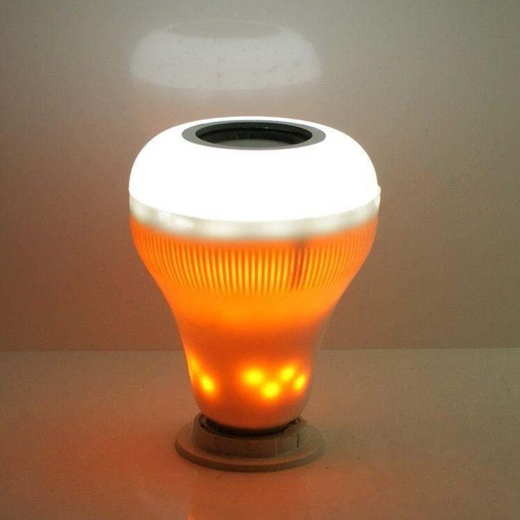 La D'ampoule 18w S'allume L'ampoule Sans D'intérieur Colorée Flamme Musique Fil Bluetooth De E27 Led hQsrxCdt