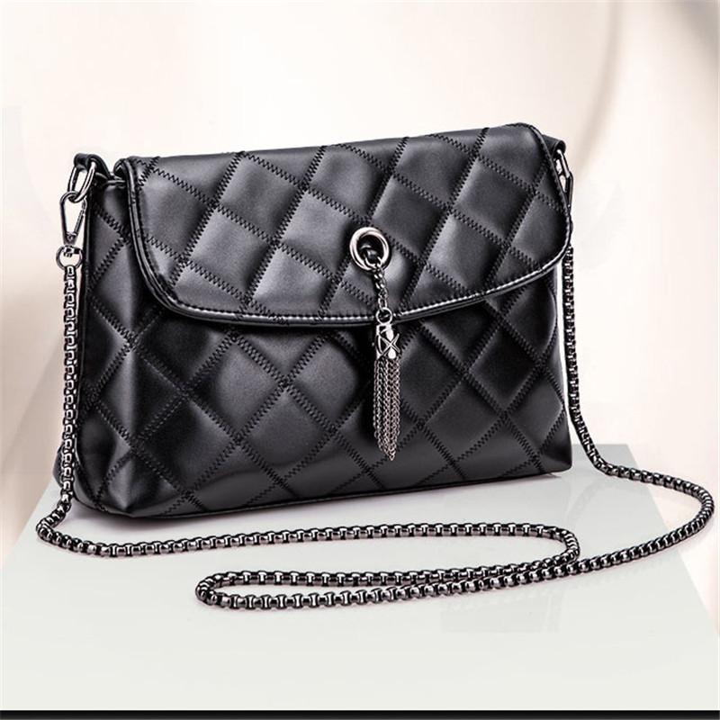 bf645e7757 Classic Women s Black Clutches Crossbody Bag Mini Flap Shoulder Bag ...