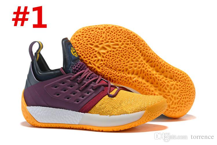 Hot 2018 Enfants Chaussures De Basket-ball Harden Vol. 2 Noir Blanc Orange Orange Fashion James Harden Chaussures grands enfants Taille EUR 40-46