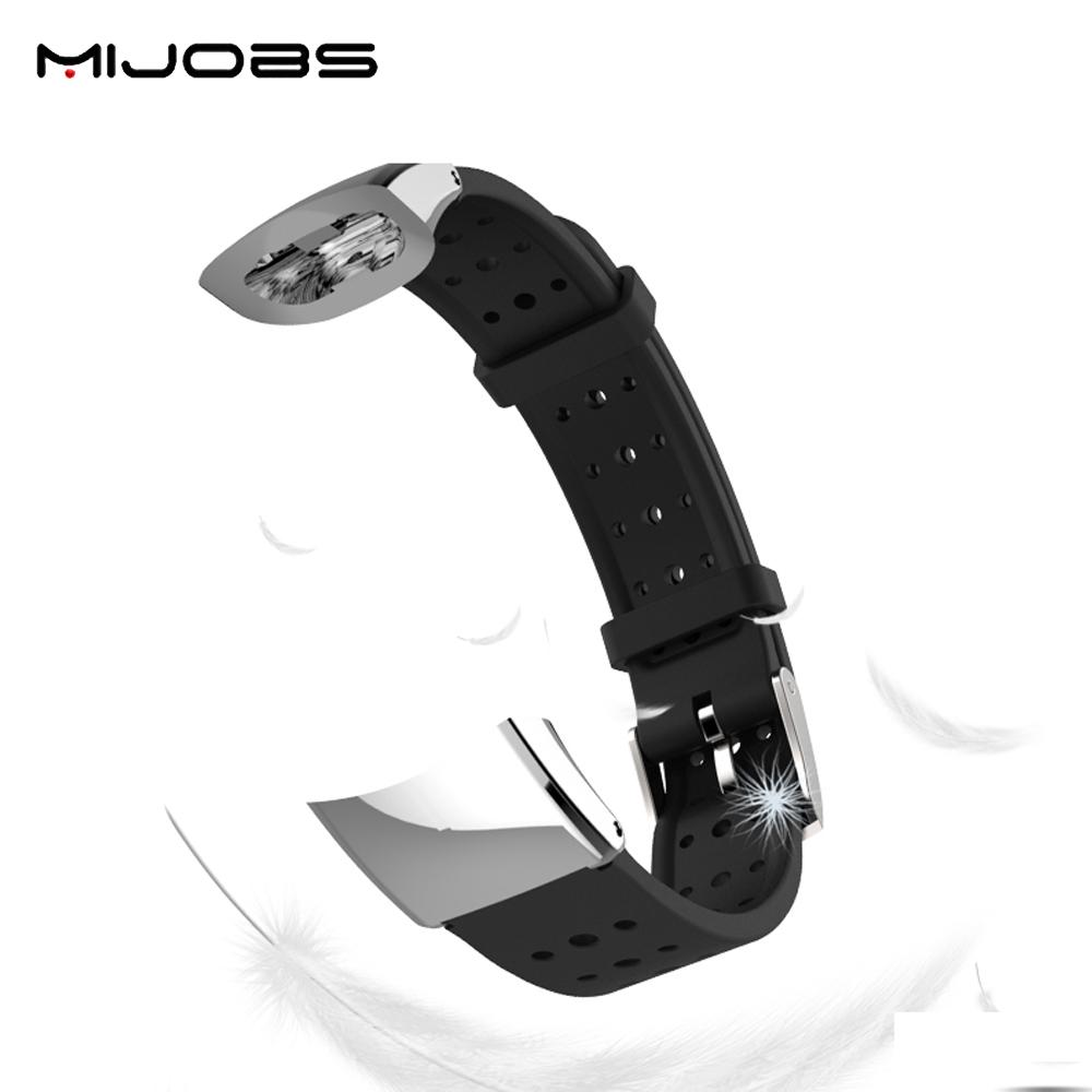 Mijobs Fashion Wristband With Metal Frame Replacement Sports ...