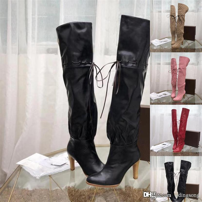 82139893c09a Women Over The Knee Boots Thigh High Suede Boots Autumn Winter Women S Wear  Fur Warm Black Heels Boots Winter Shoes Woman Waterproof Boots Western Boots  ...