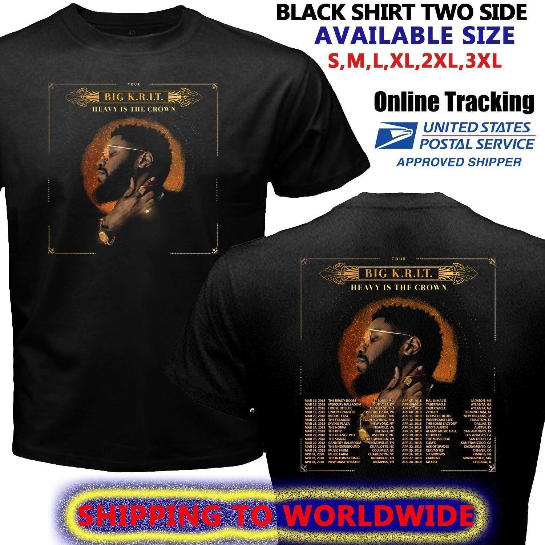 Big Krit Heavy Is Crown Tour Dates 2018 Black T Shirt 2018 Mens