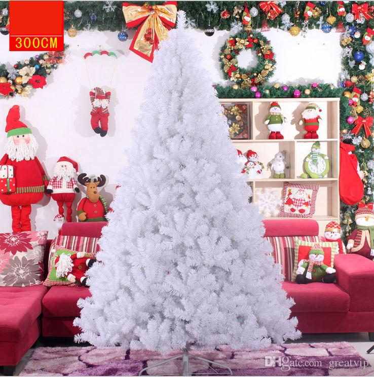 90 300cm white snow christmas trees wedding supplies artificial encryption simulation cedar new xmas decoration tree for gifts wedding party boxes for