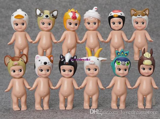 Nueva Venta Caja / 12 Diseño de Estilo Sonny Angel Mini figura muñeca kawaii muñeca de colección serie Animal Versión Para Niños Regalos Accesorios para teléfonos