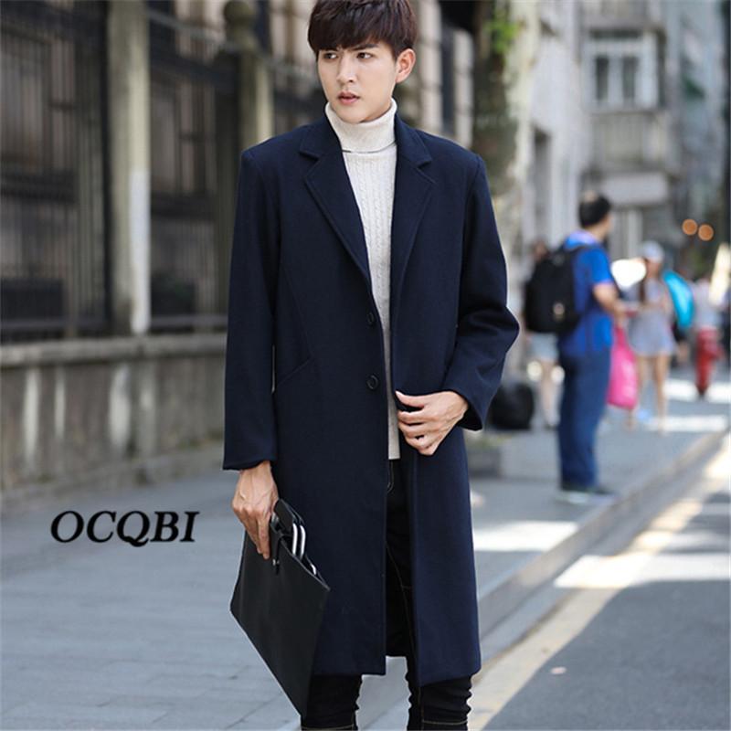 71de5bd03837b 2019 Plus Size M 4XL 2018 Korean Mens Coats Overcoats Winter Pockets  Designer Dress Coat Mens High Quality From Baiqian, $142.8   DHgate.Com