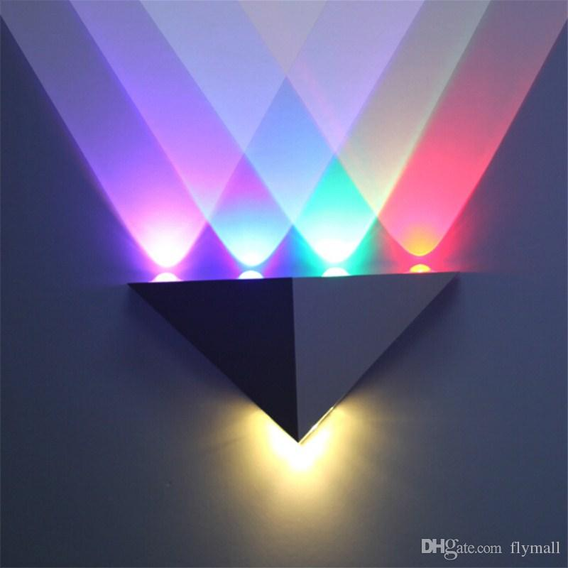 5W Triangle LED Wall Light Sconces Mirror Lamp Backlight Decorative lights LED Corridor light Up Down Wall Lamp Spot Light for bar KTV
